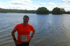 Startnummer 328: Im Ziel am Glienicker See in Berlin-Kladow! ☺