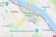Startnummer 210: Meine Strecke am Rhein