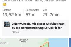 Startnummer 27: 13,5 km Walking entlang der Steilküste.
