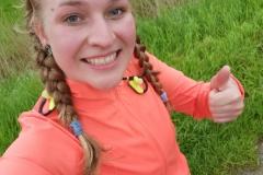 Startnummer 41: Moin von Föhr! Ich habe heute auf einer Strecke von 26,5 km dem Südwind und dem Regen getrotzt.