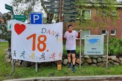 Startnummer 58: Nach 26 km im Ziel. Dank an die Organisatoren.